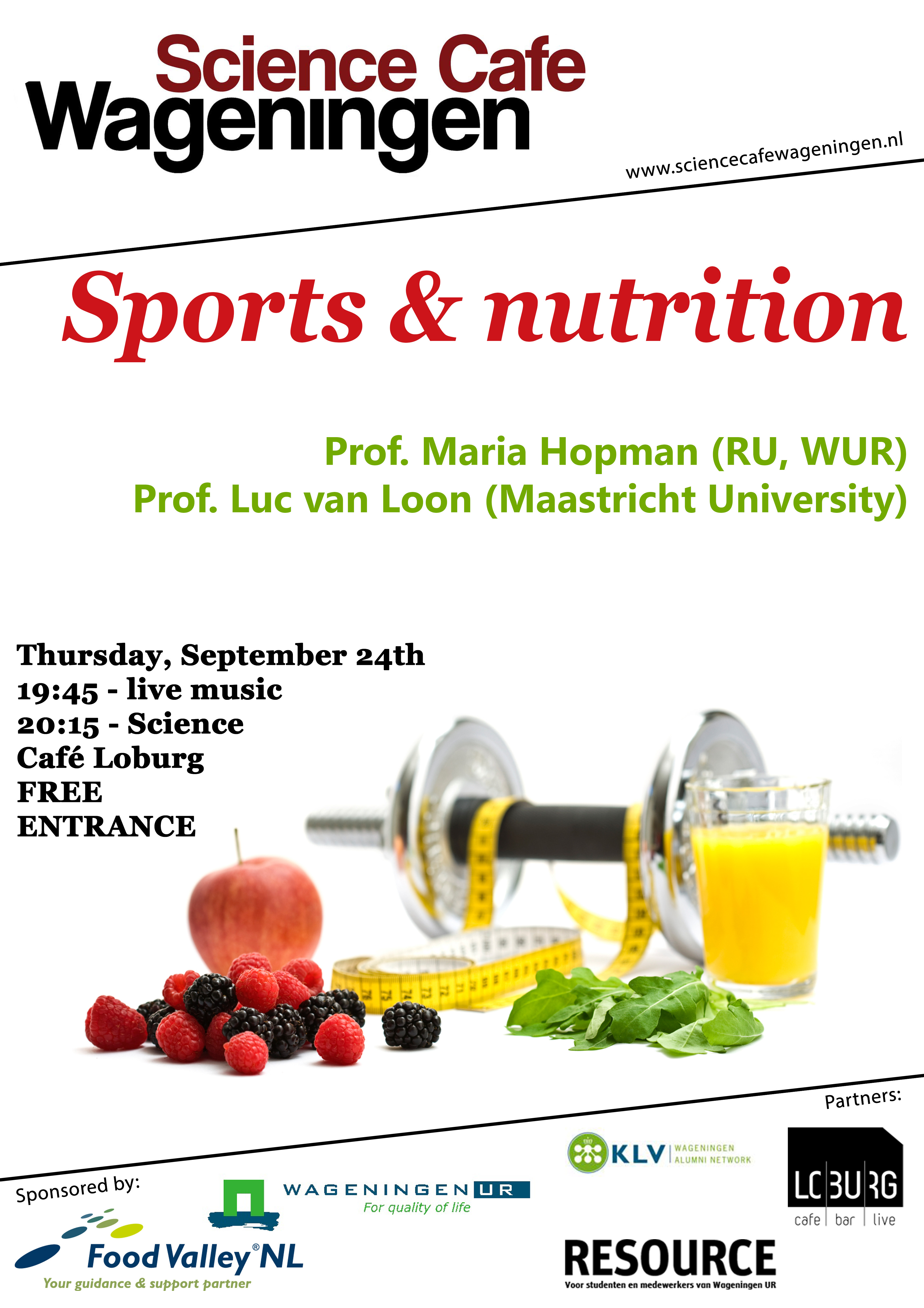 poster sports and nutrition Science Cae